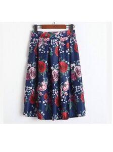 Handmade Cath Kidston Skirt Dress Navy With Garden Rose Pattern