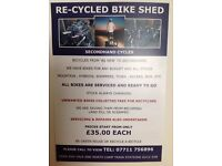 Recycled bike shed