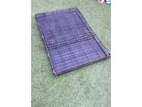 """Large size 42"""" Foldable dog cage for sale, with removable plastic tray in the bottom for easy clean"""