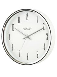 "Mainstays 15.5"" Chrome Silver Battery Operated Ticking Wall Clock"