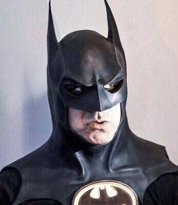 1992 Batman Returns Keaton Dark Knight Justice League Cowl Mask Cosplay 24