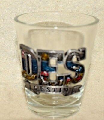 """Estate  Shot Glass  Souvenir  Destin Florida """"Des"""" 3 D Pewter Dolphin, Boat, ..."""