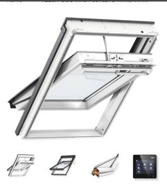 Velux white upvc electric remote control roof window 78 x 98