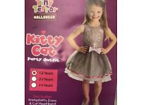 Girls Halloween Costume Kitty Cat Kids 1-2 or 3-4 Years sizes available