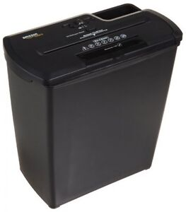 AmazonBasics 8-Sheet Strip-Cut Paper/CD/Credit Card Shredder with Basket, New