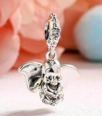 New Pandora Genuine Sterling Silver Disney Dumbo Dangle Charm  797849CZ
