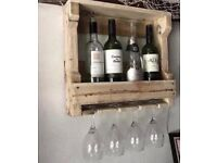 Reclaimed Wood Handmade Wine Rack