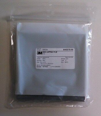 3m Lapping Film Sheets 466x 6x6 5mic Silicon Carbide Adhesive Back 50pack