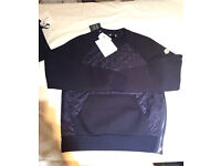 Moncler quilted sweatshirt navy mens small brand new genuine RRP - £335