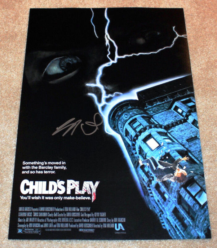 BRAD DOURIF SIGNED AUTHENTIC 'CHILD'S PLAY' 12X18 MOVIE POSTER w/COA DUNE CHUCKY