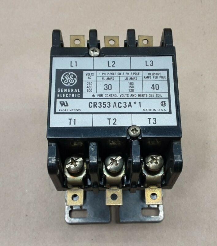 GE General Electric CR353AC3A*1 Definite Purpose Contactor 30 AMP #3001I85
