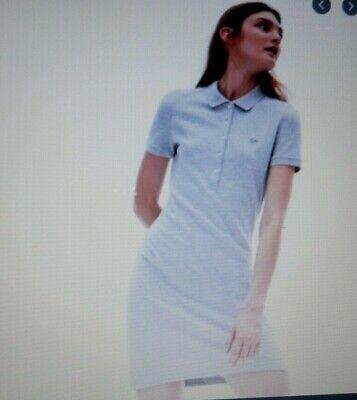 Lacoste sz 42 Large Women's Polo dress in stretch mini piqué Blue
