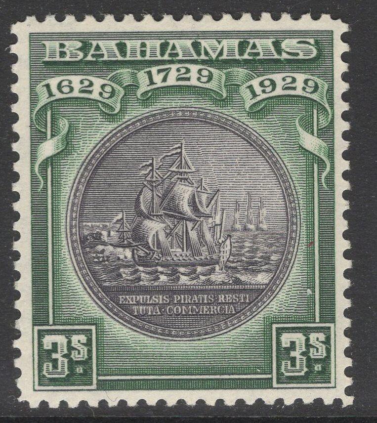 BAHAMAS SG130 1930 3/= BLACK & GREEN MTD MINT