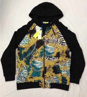 NEW Versace Men's Size XXL Zip Up Hoodie Lightweight Jacket EB7GLB702 E36112