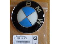 BMW WHEEL BONNET & BOOT BADGES EMBLEM GENUINE**NEW** .SEE ADVERT 4 COLOURS AND SIZES