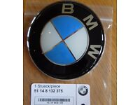 BMW BONNET & BOOT BADGES EMBLEM Fits all series GENUINE**NEW** .SEE ADVERT for COLOURS AND SIZES