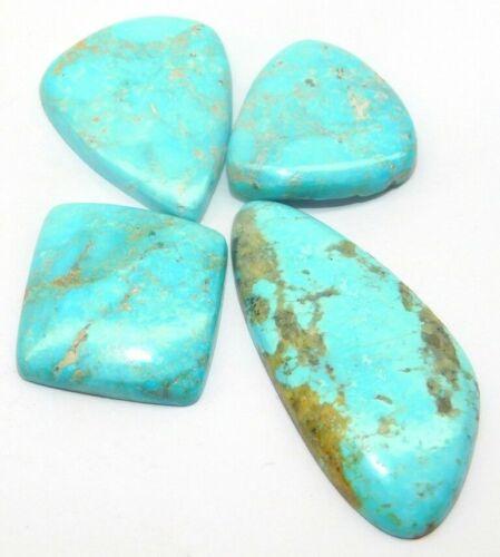 88 Cts Natural Beauti Turquoise 4 Pieces Cabochon Gemstones Wholesale Lot 24461
