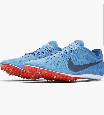 baaa66d698bbc Nike Zoom Victory Elite 2 Track Blue Size 12 Removable Spikes 835998-446