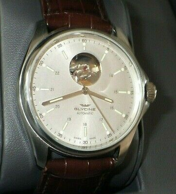 Glycine Combat Men's GL0120 Automatic Watch w/ Brown Leather Band