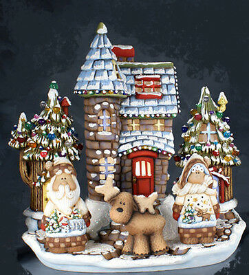 """Ceramic Bisque Ready to Paint """"Santa Land"""" Chateau electric included"""