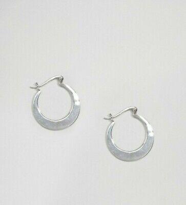 Kingsley ryan Sterling Silver Crescent Hoop Earrings
