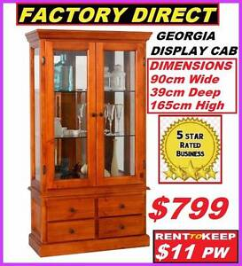 New Display Cabinet With 4 Drawers 2 Doors. RENT TO KEEP $11PW Ipswich Region Preview