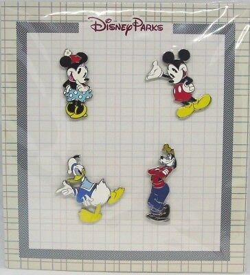 Disney Trading Pins * CLASSIC MICKEY & FRIENDS WHITE  *  Sealed Booster Set of 4