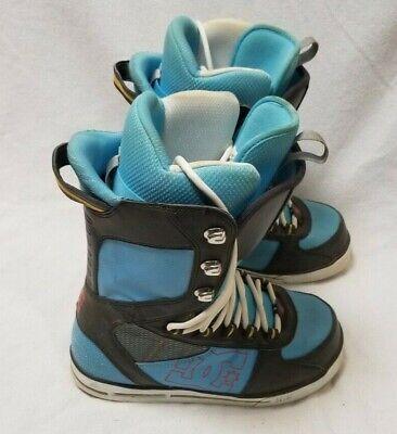 DC Size 8 Snowboard Boots-Mens Park Boot-Excellent Shape-Blue/Black Dc Park Snowboard Boots