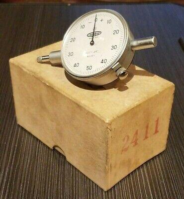 Vintage Mitutoyo Dial Indicator 0-50-0 No. 2411 .001 - .250 Range Excellent