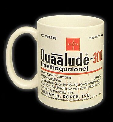 Quaalude cup/mug, Quaaludes, qualude, qualudes