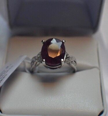 5.50ct. NATURAL GENUINE AFRICAN  RUBY & NATURAL SAPPHIRE STERLING SILVER  RING  -