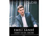 2 x Michael Bublé - Croke Park !!FACE VALUE!!