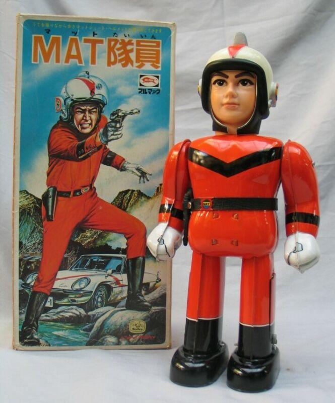 ULTRAMAN MAT Crew Man Tin Battery Operated BULLMARK Toy in Original Box