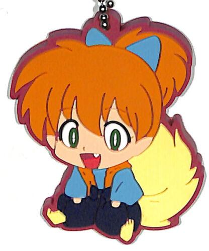 InuYasha Strap Mascot Charm Miroku Capsule Mascot Rubber 3. Shippo