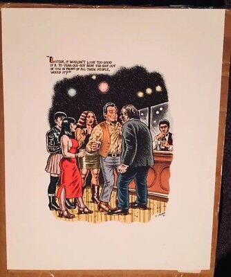 Used, R. Crumb color serigraphs - Bukowski - The Captain is Out 1997 -3 images for sale  Buffalo
