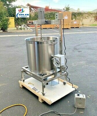 New 80l Steam Kettle Mixer Hand Crank Tilt Natural Gas And Electric Stirrer