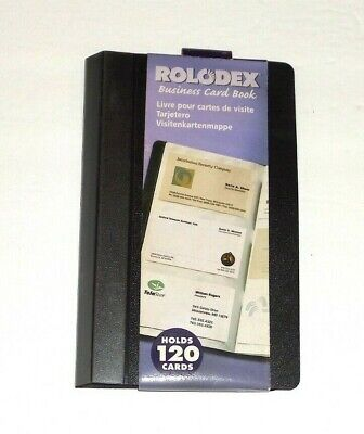 Rolodex Vinyl Business Card Book 120 Card Capacity 20 Pages Black