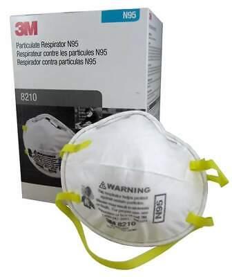 3M 8210 N95 Particulate Respirator, 20 Masks Per Box, EXP. 02/2026, Valid Codes