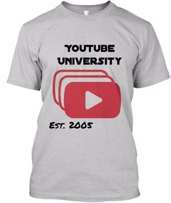 You Tube University Funny T Shirt Design College T Shirt Specialty School Tee