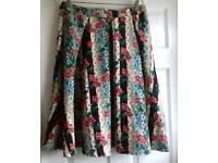 Designer GLAMEROUS floral full skirt size 16