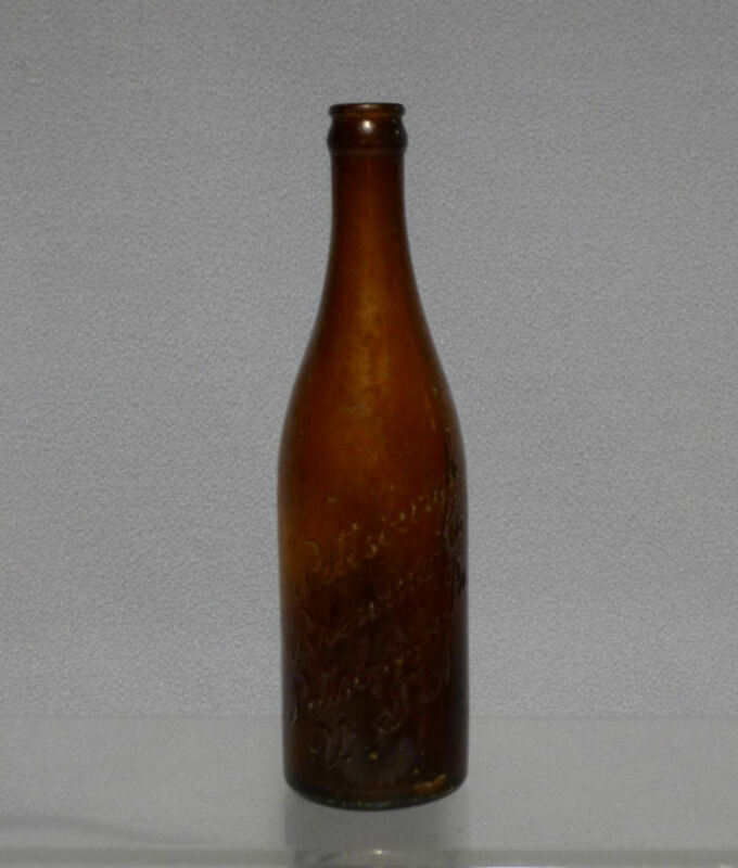 Antique Pittsburgh Brewing Co IRON CITY BEER Amber Tool Top Crown Top Bottle.