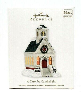 RARE NEW 2012 HALLMARK A CAROL BY CANDLELIGHT CHRISTMAS ORNAMENT SCARCE BEAUTFUL