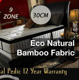 9ZONE Pocket Spring EuroTop Gel-infused Latex BAMBOO Mattress