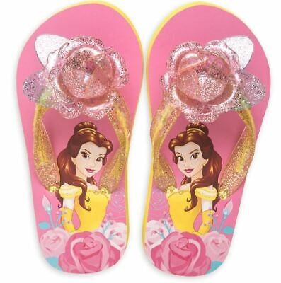 Disney Beauty and The Beast Belle Flip Flops for Kids (Size 7/8)](Disney Beast Costume For Kids)