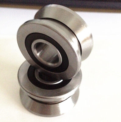 1pc Lv208 V Groove 83014mm Sealed Ball Track Roller Guide Vgroove Bearing