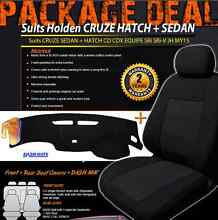 HOLDEN CRUZE JH BLACK CUSTOM MADE SEAT COVERS F+R & DASH MAT Mile End West Torrens Area Preview