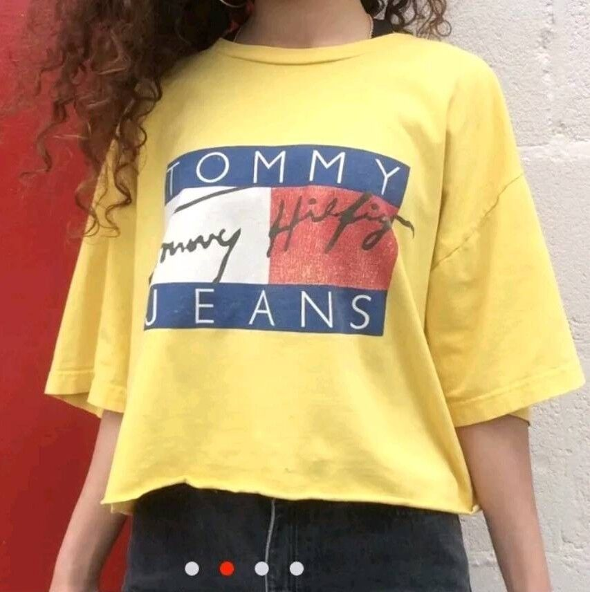 4385ffaf37b RARE Vintage Tommy Hilfiger Yellow T-shirt