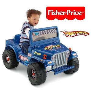 USED FISHER-PRICE HOT WHEELS RIDEON Fisher-Price Power Wheels Hot Wheels Jeep 6-Volt Battery-Powered Ride-On TOY
