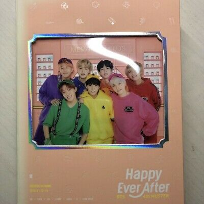 BTS 4th Muster Happy Ever After Official DVD No Photocard(damage)