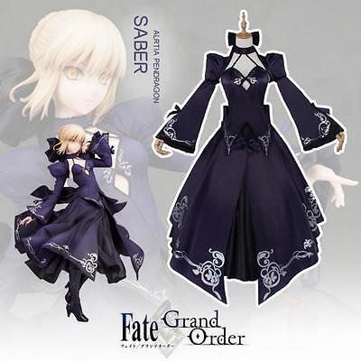 Saber Cosplay Kostüm (Fate/Zero Fate Zero Saber Altria Cosplay Kostüm costume Kleid lolita Kleider V2)